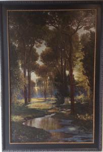 """Max Roeder (Monaco 1866 - Rom 1947) """"Parco Villa Borghese"""""""