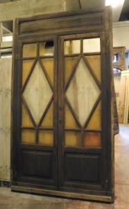 neg035 - porta da negozio a vetri, II metà dell'800, misura cm l 150 x h 263