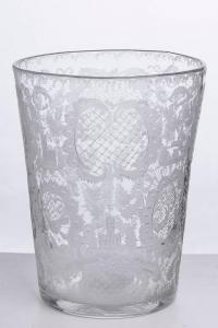 Chrystal Netherland Old Vase, Finely Engraved