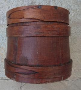 Magnificent wooden container for food storage