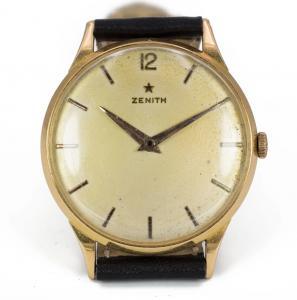 Orologio da polso Zenith in oro 18k, anni 50