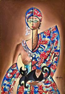 """马西莫·安吉列里(Massimo Angeleri)的硬石膏上的""""女人的画像"""",马西莫·安吉列里(Massimo Angeleri)的硬石膏上的""""女人的画像"""""""