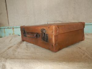 cardboard suitcase from the 1920s