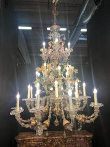 Lustre de vidro de Murano 33 chamas