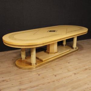 Итальянский конференц-стол из экзотического дерева