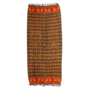 Indonesische IKAT Textilplatte - B / 1043