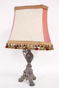 20世纪金属和织物台灯