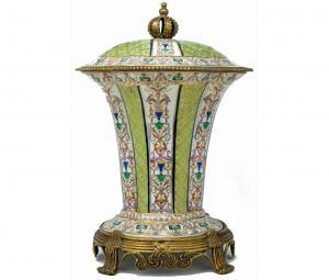 Vase with porcelain lid, 19th century