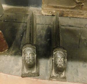 al190 - pair of cast iron wings, 19th century, l 9 xh 10 x p. 30 cm