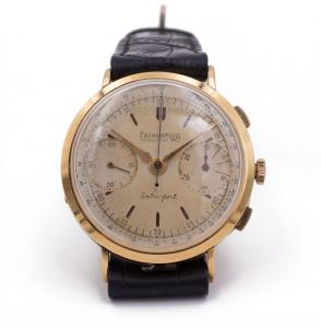 Eberhard Extra-Fort wristwatch in 18k gold