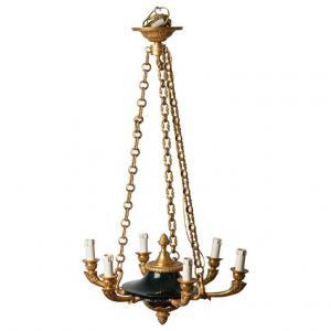 Araña de bronce de época imperio - ref. O / 4374