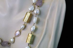 Collana Chanel perle e ametiste (KLIMT)