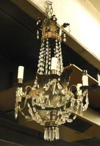 lamp164-水晶吊灯,十九世纪,尺寸cm 40 xh 70