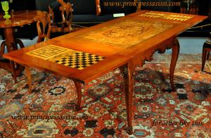 Austrian Empire c. 1740 Very rare admirable game table with contemporary function as a center table and extendable.