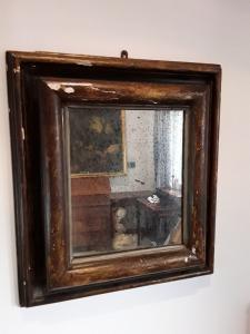 Lacado doble marco y espejo de la meca, principios de 1600 h87xl77 de Siena, garantizado por ley