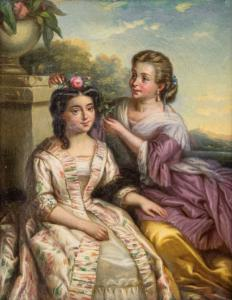 Portrait of young girls, 19th century