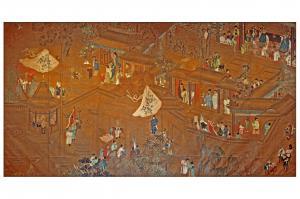 Pannello Cinese fine XVIII secolo