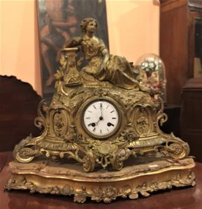 Orologio da tavolo con movimento a pendolo, epoca Napoleone III