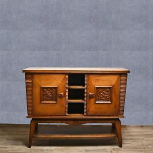 Credenza piccola in castagno anni '40, Small chestnut sideboard from the 1940s