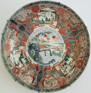 Китайская фарфоровая тарелка