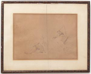 "Drawing of a woman ""Postiglione"" - CA / 1079"