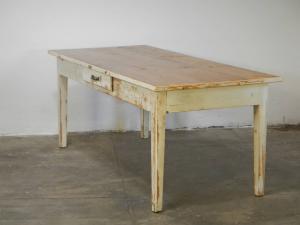 tavolo abete anni 70