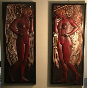 Panels in polychrome wood