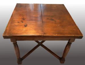 antico tavolo a libro in noce epoca 800