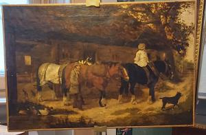 威廉·梅多斯(William Meadows)于1895年创作的画布油画