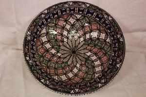 Piatto decorativo marchiato Rosalind Pottery