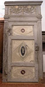 ptl246 расписная дверь, эпоха Людовика XVI, измер. макс h 286 см x l 135 см