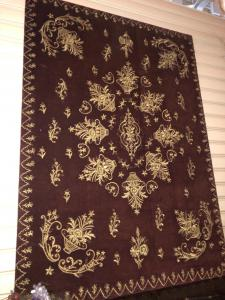 Panel also suitable for headboard hand embroidered with gold thread