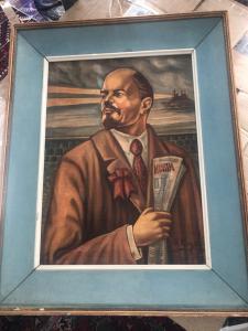 Olio su tela Lenin