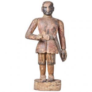 Antica scultura in legno Indiana