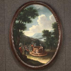 """十八世纪的古椭圆形画作"""" Giuseppe al pozzo"""""""