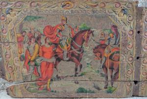 Splendido elemento di carretto siciliano realizzato dalla scuola Ducato di Bagheria