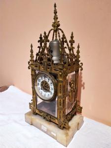 Orologio in bronzo e cristallo Epoca metà '800 Francia