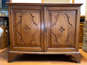 Antique Louis XIV half cupboard with walnut paneling 700
