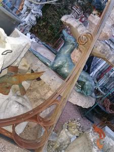 Ancient iron shelves