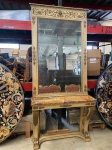 Консоль с зеркалом 130x53x100h зеркало 120x187h