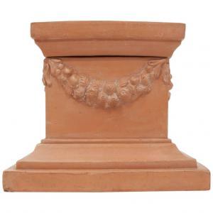 Tuscan base / column in terracotta