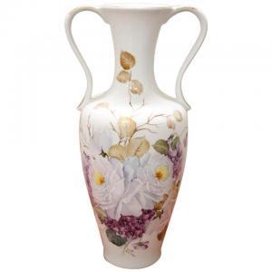 Beautiful hand painted artistic ceramic vase circa 1980