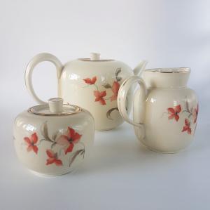 Juego de té de porcelana Ginori, años 30 y 40