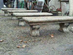 Benches travertine