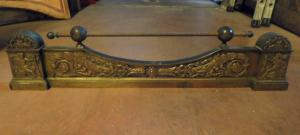 1717 - cenicero de bronce dorado, cm l 96 xh 23