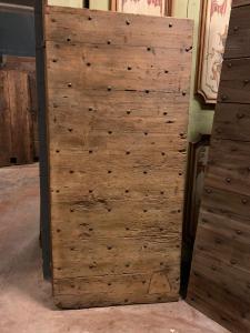 ptcr471 - puerta en alerce clavado, '7 /' 800, cm l 85 xh 183