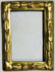 carved and gilded frame from the 1700s
