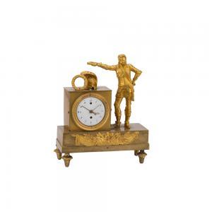 Orologio da appoggio francese in bronzo dorato