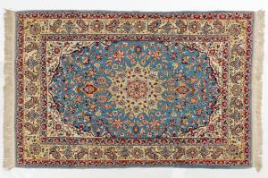 Tappeto persiano ISFAHAN con ordito in seta