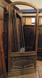 neg039 - porta da loja de vidro, medindo cm l 105 x h 246 x th. 3 cm